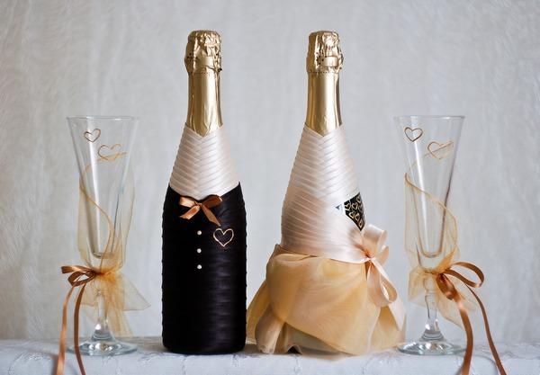 Своими руками оформление шампанского