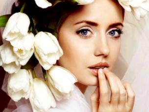 свадебный макияж для голубоглазых девушке