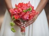 Гладиолусы и георгины для свадебного букета