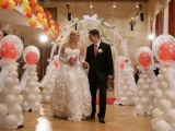 Преимущества оформления свадьбы воздушными шарами
